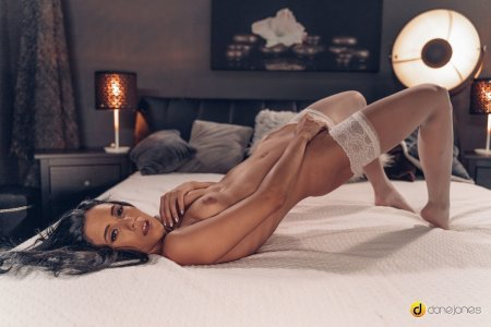 Nikki Fox, Nick Ross - Sweet love making in white lingerie