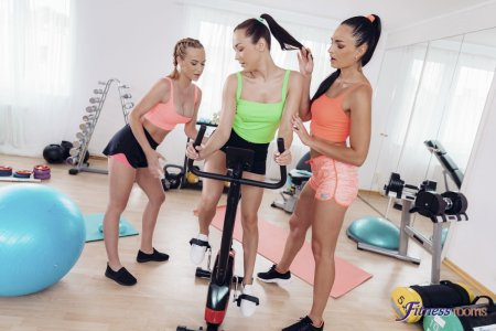Alya Stark, Cristal Caitlin, Leanne Lace - Lesbian threeway after hot workout