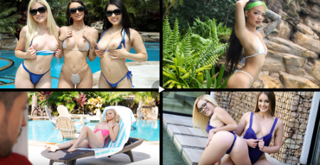 Alessia Luna, Paisley Paige, Jenna Foxx, Gina Valentina - Bikini Babes ( teamskeet )