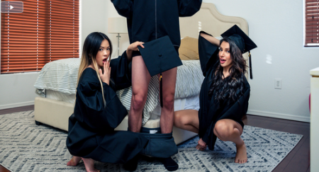 Hime Marie, Lulu Chu - Stepsisters Graduation Day ( nubiles-porn )